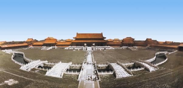 太和门,15世纪。故宫,北京。