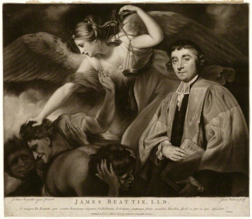 James Watson, nach Sir Joshua Reynolds, James Beatie, 1775. Mezzotinto-Radierung, 35,7 x 40,2 cm. National Portrait Gallery, London.