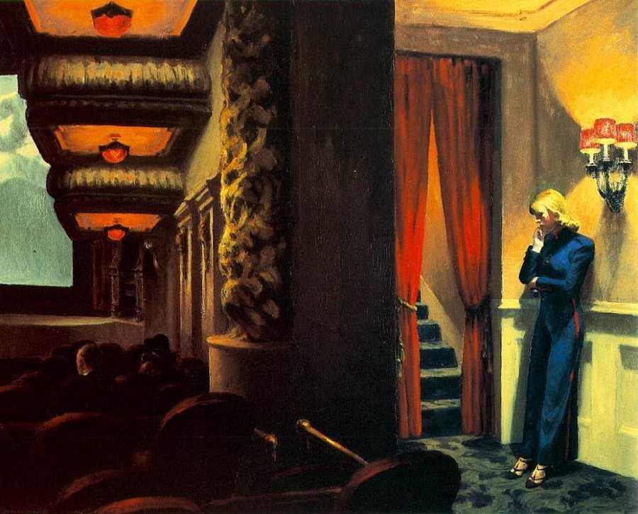 Edward Hopper, New York Movie, 1939. Huile sur toile, 81,9 x 101,9 cm. The Metropolitan Museum of Art, New York.