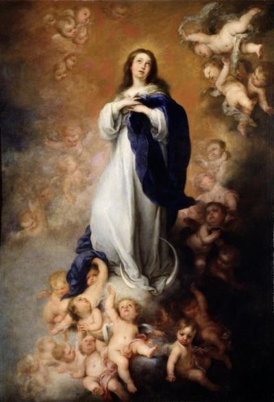 Bartolomé Esteban Murillo, La Inmaculada Concepción de los Venerables (h. 1678). Óleo sobre lienzo, 274 x 190 cm. Museo del Prado, Madrid.