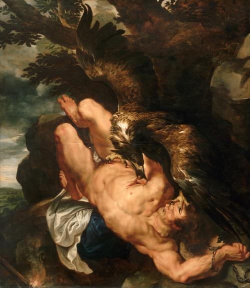 Peter Paul Rubens, Der gefesselte Prometheus, um 1611-1618. Öl auf Leinwand, 242,6 x 209,6 cm. Philadelphia Museum of Art, Philadelphia.