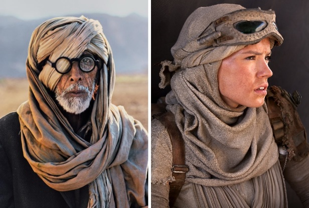 Can you tell the diference between Rey and this old Bedouin? Tough.